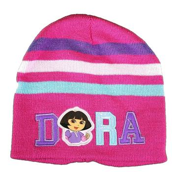 Dora The Explorer Star & Stripes Girl's Hat & Gloves Set Sz. 4-7