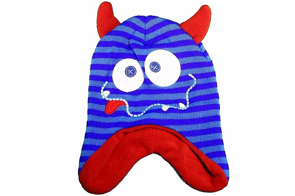 Image of Knit Fun Creature Toddler Hat & Mittens Winter Set Sz. 2 4 - Blue - Toddler, Ages 2 4