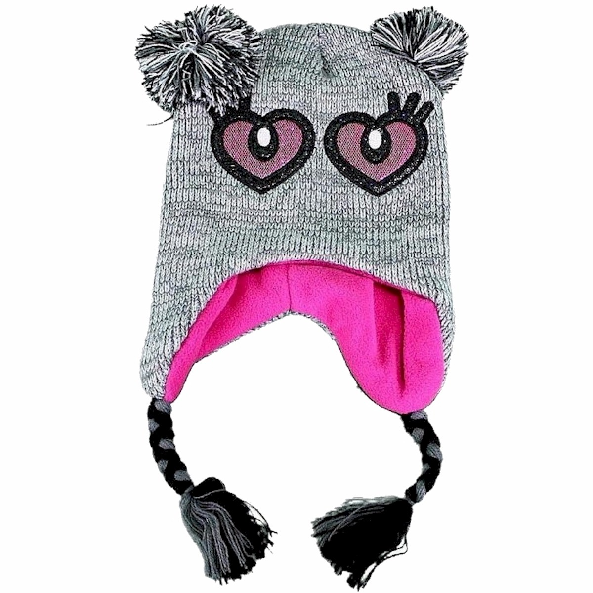 Image of Knit Fun Critter Girl's Scandinavian Winter Hat - Grey - Girls, Ages 7 & Up