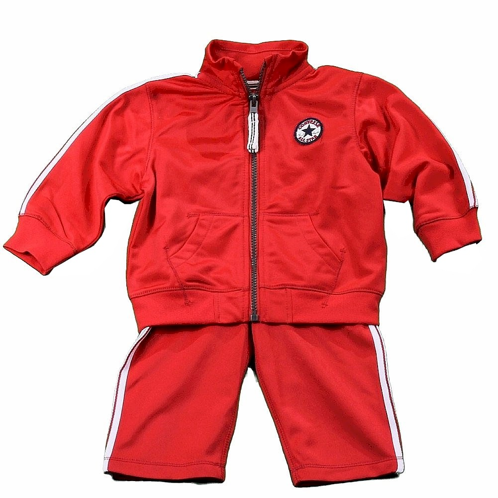 Image of Converse Infant/Toddler Boy's Track Pant & Jacket 2 Piece Set - Red - 12 Months
