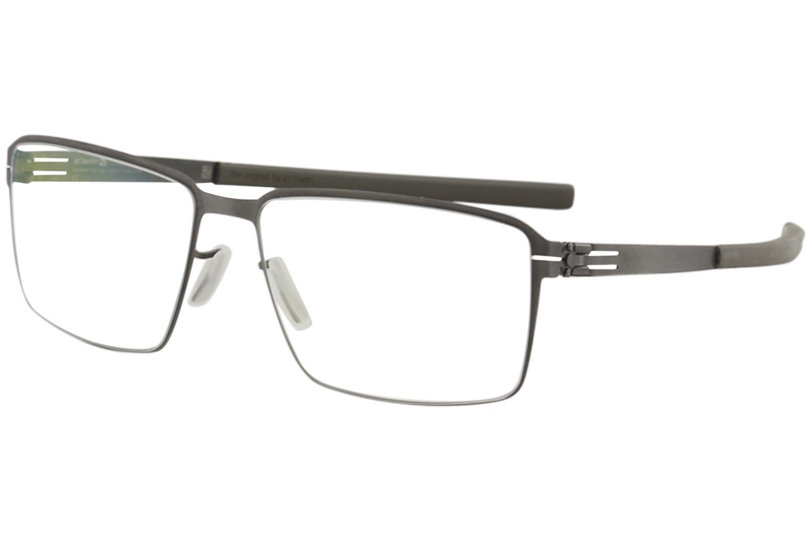 Image of Ic! Berlin Men's Eyeglasses Jens K. Full Rim Flex Optical Frame - Graphite - Lens 55 Bridge 16 Temple 145mm