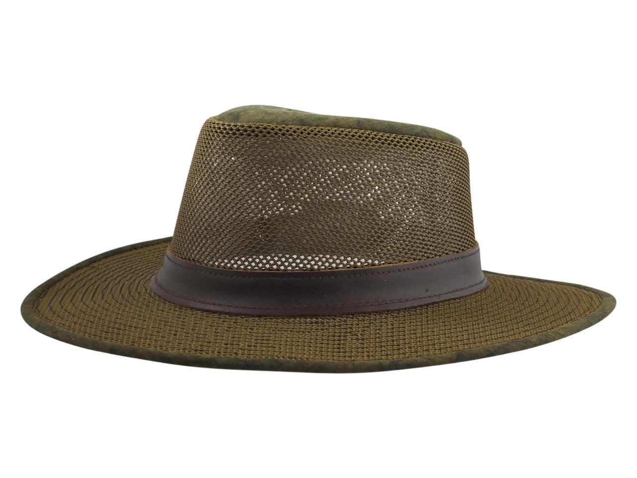 Image of Henschel Men's Adventurer Mesh Breezer Safari Hat - Distressed Gold - Medium
