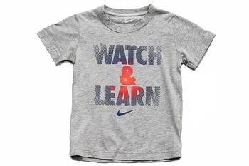 Nike Girl's Watch & Learn Short Sleeve T-Shirt  UPC: