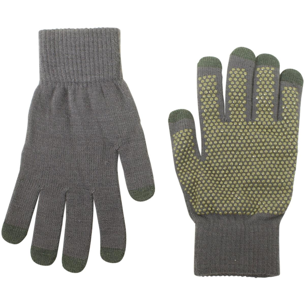 Image of Dorfman Pacific Men's Touchscreen Knit Gloves - Grey - One Size Fits Most