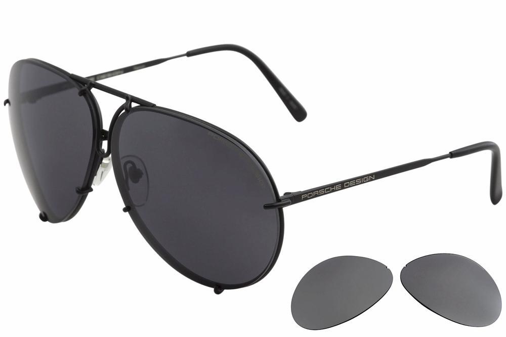 3fbf0b8e9e ... Porsche Designs Sunglasses P8478 D Matte Black Frame Interchangeable  66mm Lens EAN 4046901531959 product image for - Matte Black Brown D - Lens  66 ...