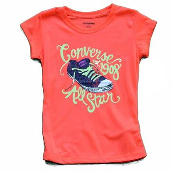 Converse Girl's All Star 1908 Chuck Taylor Short Sleeve T-Shirt  UPC: