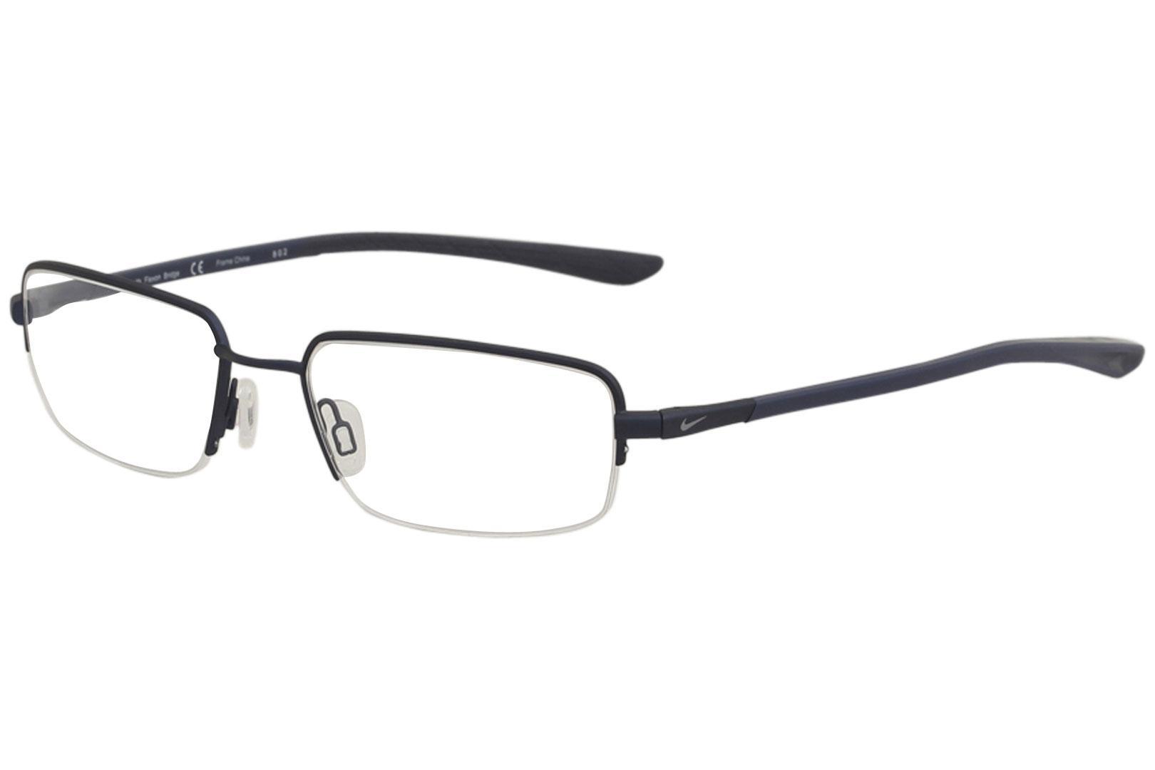 Nike Men\'s Eyeglasses 4287 Half Rim Flexon Optical Frame