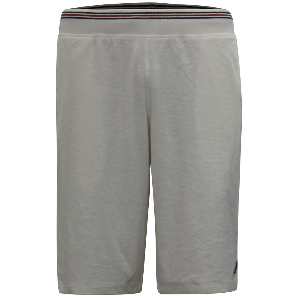 Image of Fila Men's Bronx Terry Drawstring Shorts - Gardenia/Fila Navy/Fila Red - Large