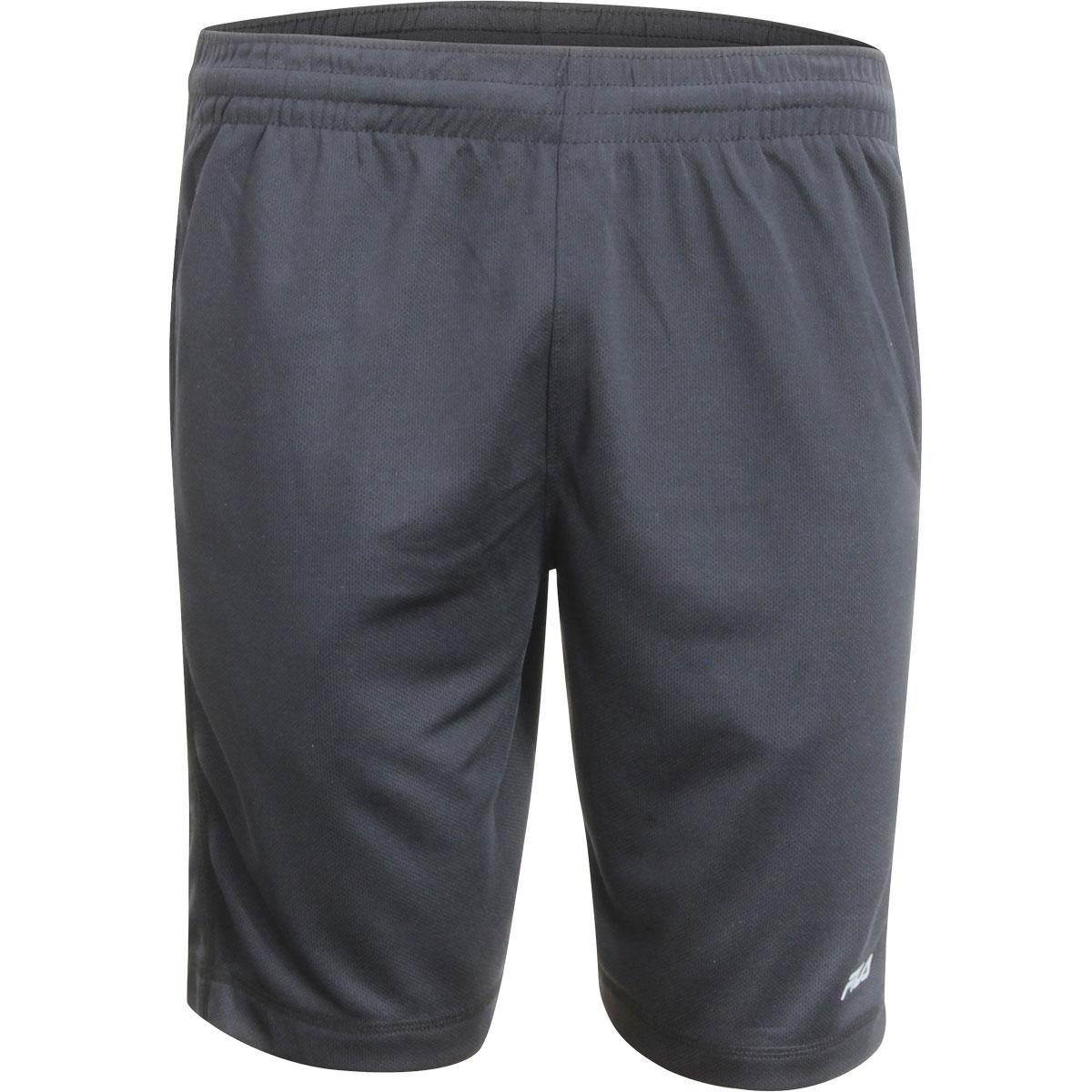Image of Fila Men's Sidewalk Drawstring Mesh Shorts - Black/Black - Large