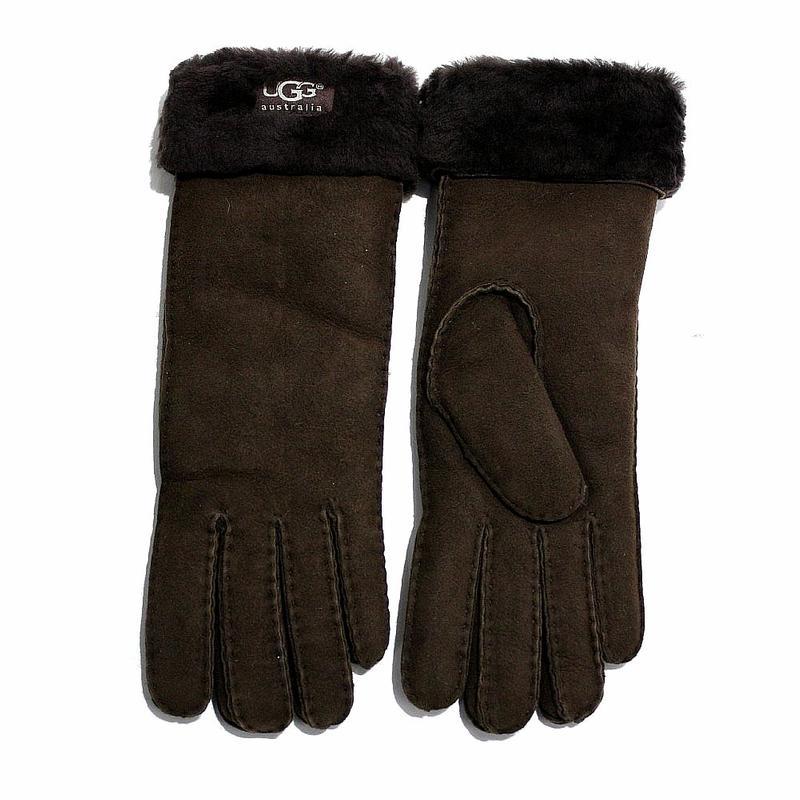 Ugg Australia Women s Turn Cuff Sheepskin Leather Gloves