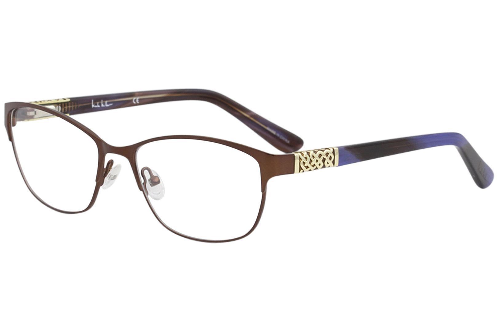 fcf4f19654 Nicole Miller Women s Chestnut Eyeglasses Full Rim Optical Frame by Nicole  Miller. 12345