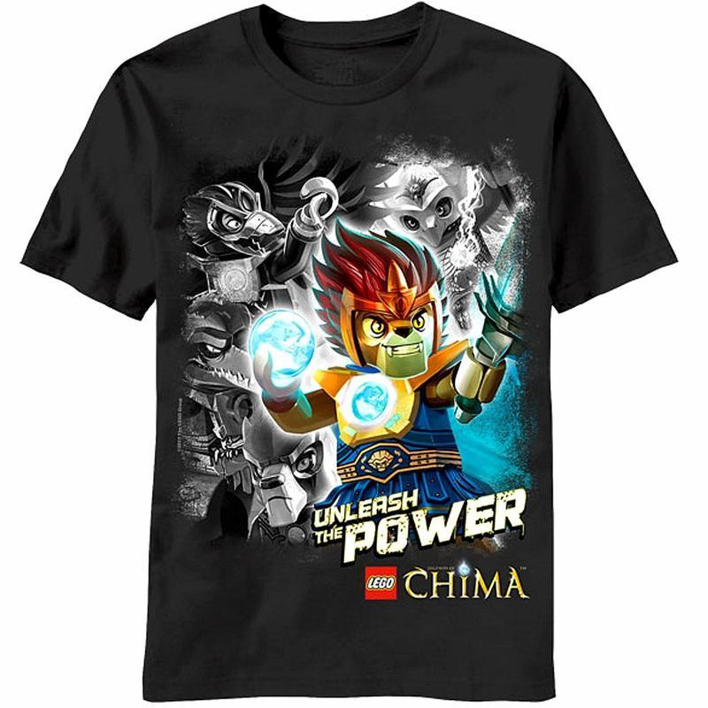 Image of Lego Chima Boy's 100% Cotton Splash Of Wreck Black T Shirt - Black - 4