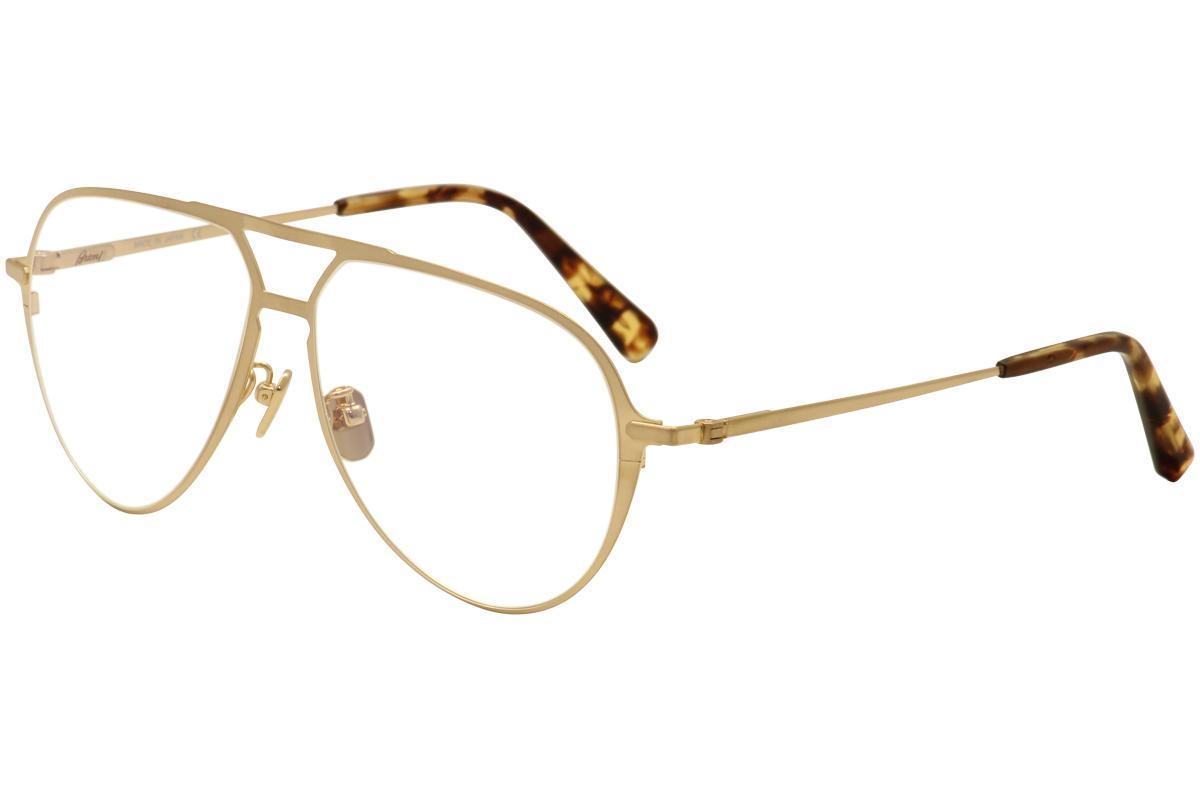 Image of Brioni Men's Eyeglasses BR 0011O 0011/O Titanium Full Rim Optical Frame - Gold - Lens 59 Bridge 13 Temple 145mm