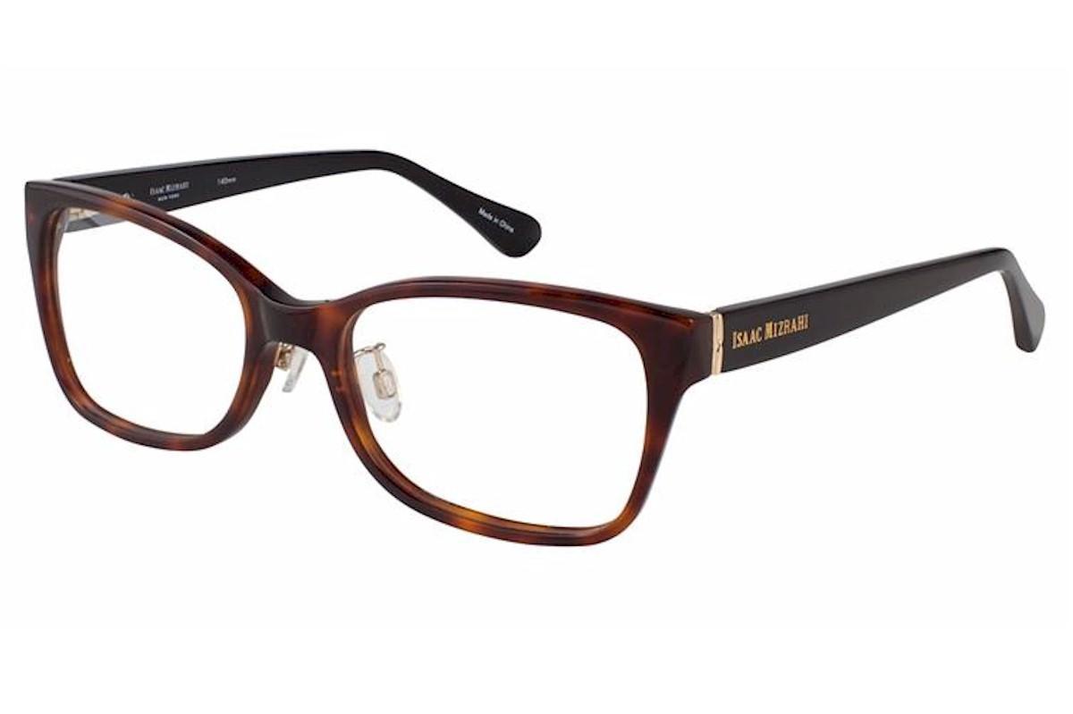 Image of Isaac Mizrahi Women's Eyeglasses IM30008 IM/30008 Full Rim Optical Frame - Brown - Lens 54 Bridge 18 Temple 140mm