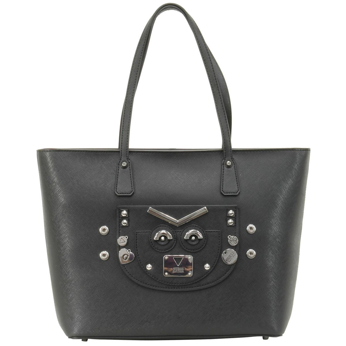 Guess Women's Cyber Rock Saffiano Tote Handbag