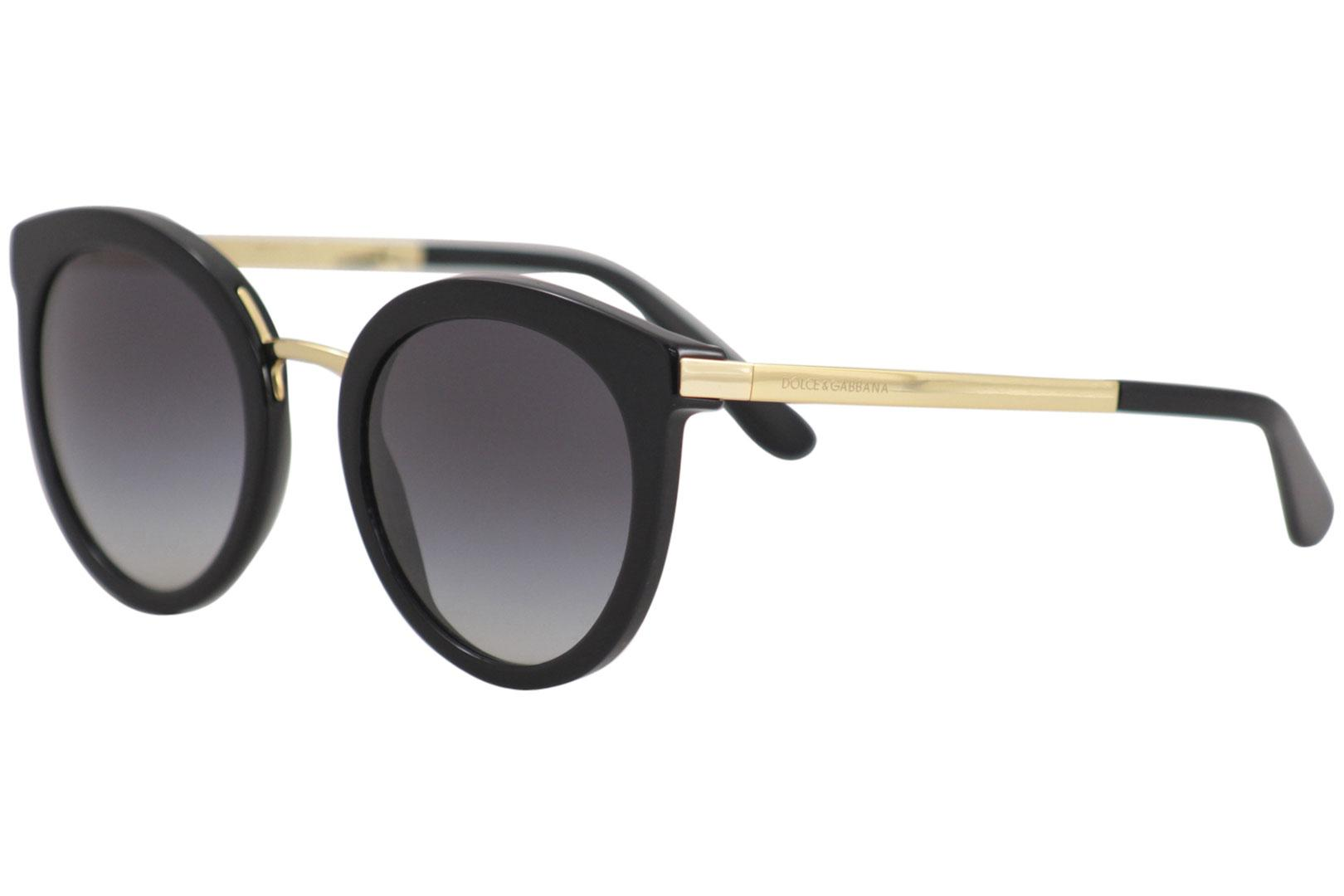 24f7e795fc9f4 Dolce   Gabbana D G DG4268 DG 4268 501 8G Black Gold Round ...