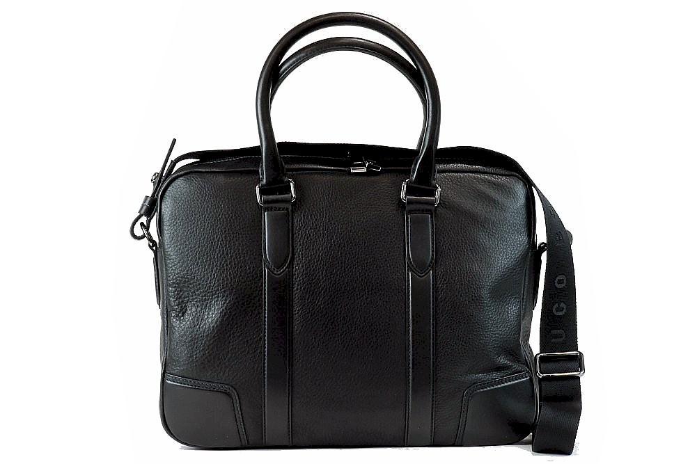 Hugo Boss Men S Morval 50261682 Leather Business Messenger Bag By