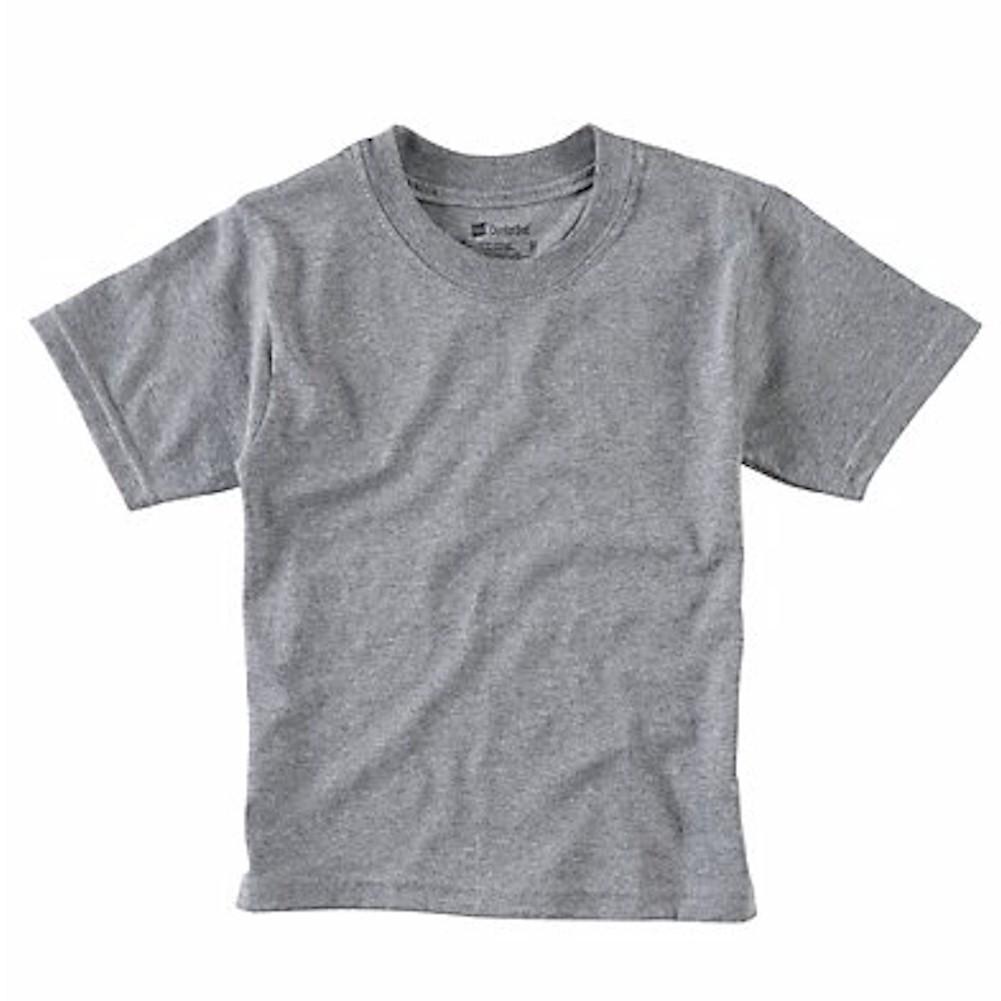 Image of Hanes Boy's B213 Classics Tagless 3 PK Crew Neck T Shirt - Black - Regular