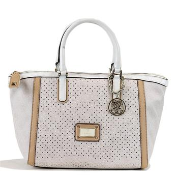 Guess Women's Logo Remix SP452706 Uptown Satchel Handbag UPC: