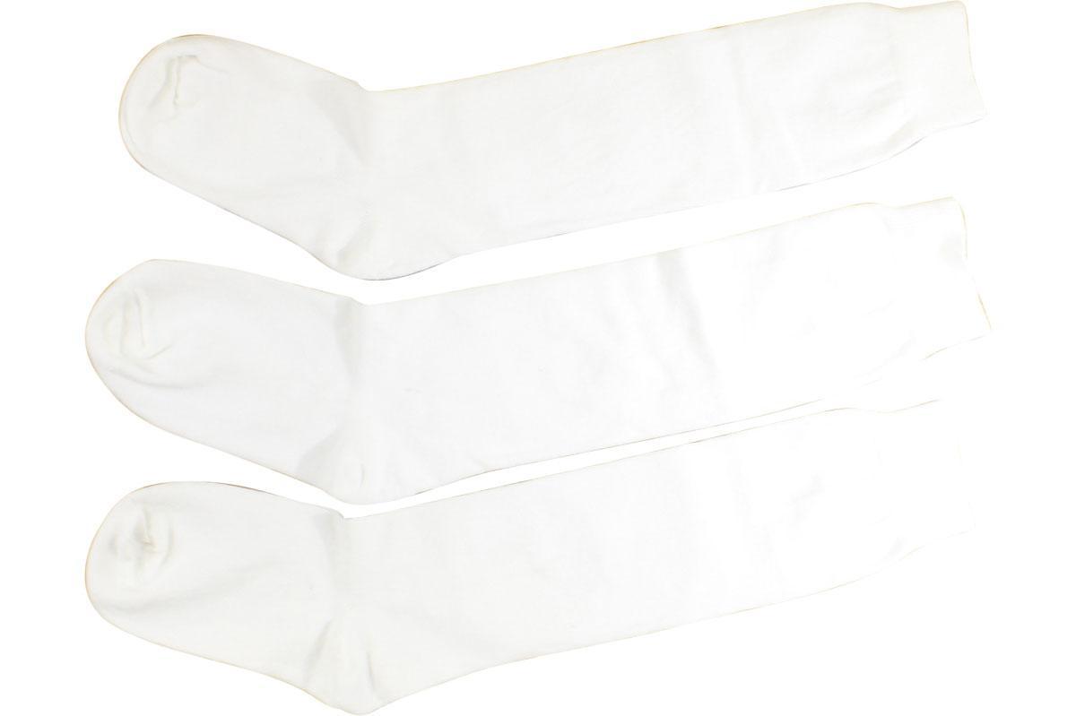 Image of Jefferies Socks Girl's 3 Pairs School Uniform Knee High Socks - White - Large; Fits Shoe 6 9 (Big Kid)
