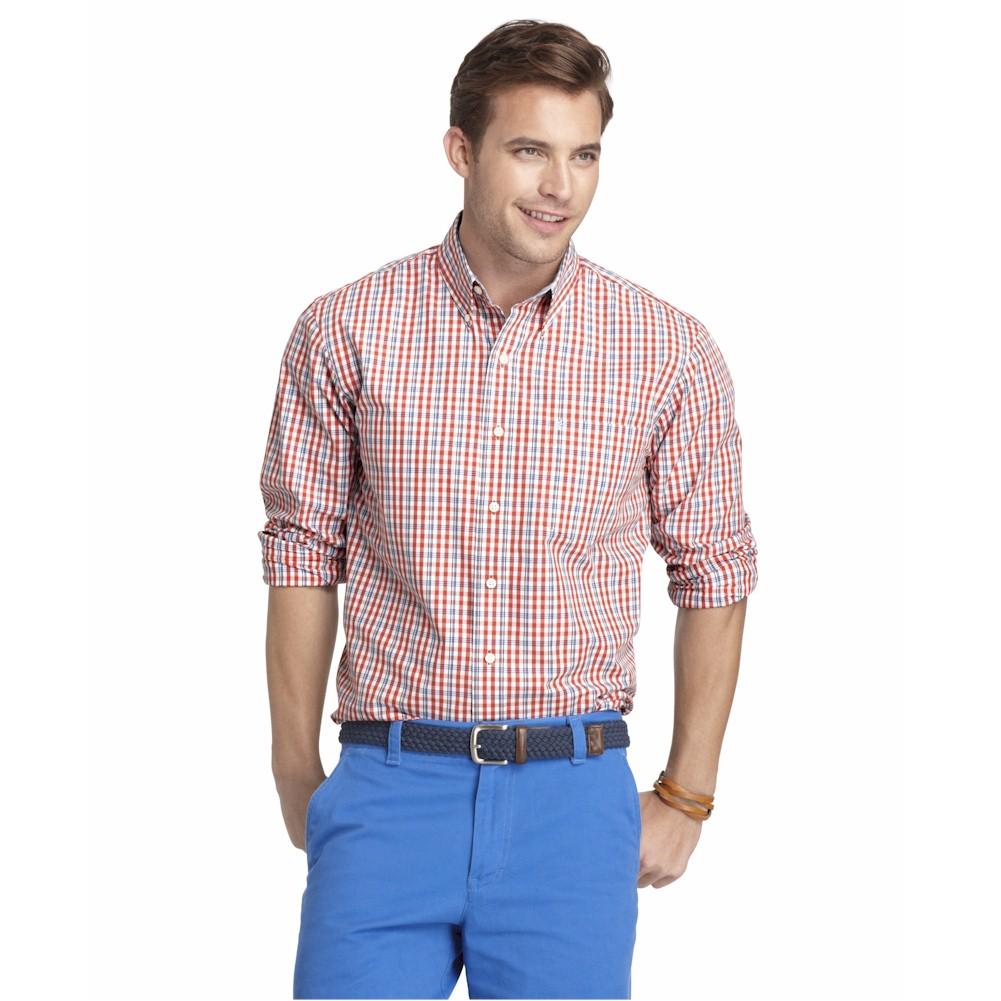 Izod Mens Slim Fit Essentials 45hw538 Long Sleeve Button Up Shirt