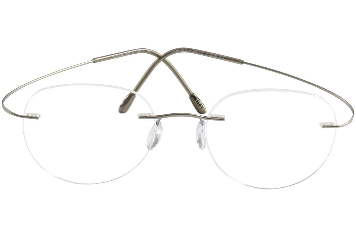 54652774150 Silhouette Eyeglasses TMA Must Collection Chassis 5515 Rimless Optical Frame  by Silhouette