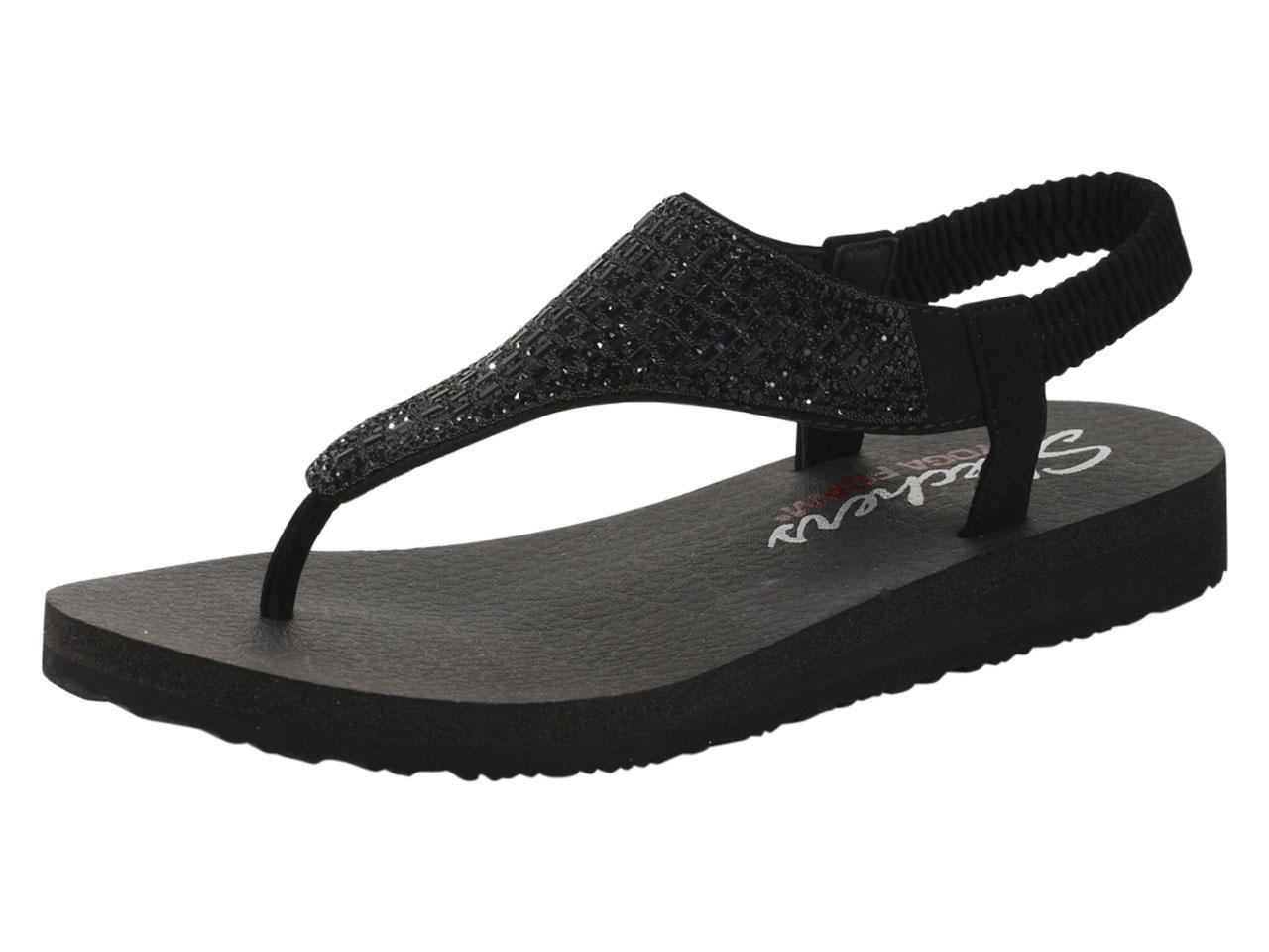 2d3670092bf4 Skechers Women s Meditation Rock Crown Yoga Foam Sandals Shoes