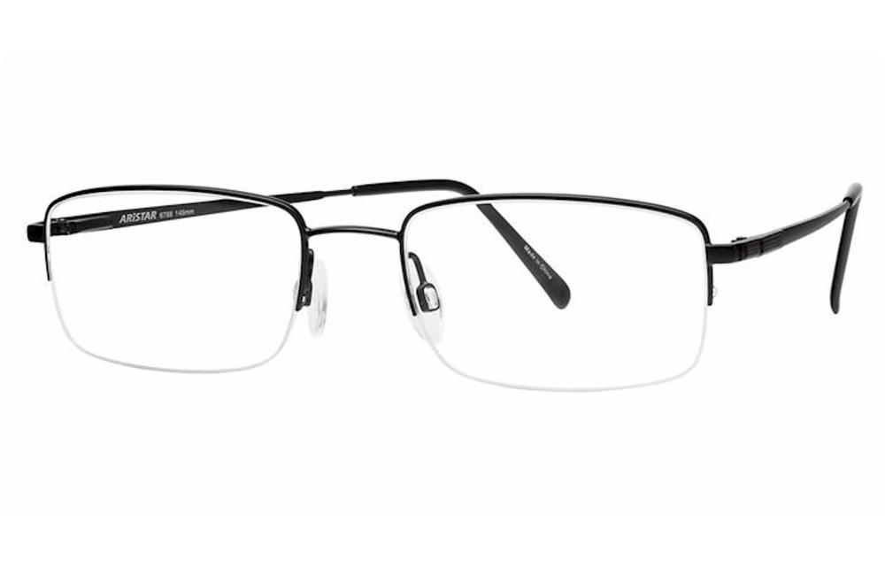 3240400832b Aristar By Charmant Men s Eyeglasses AR6768 AR 6768 Half Rim Optical Frame  by Aristar By Charmant