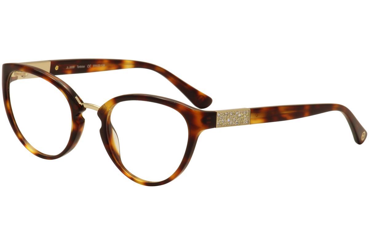Image of JL By Judith Leiber Women's Eyeglasses JL3009 JL/3009 Full Rim Optical Frame - Brown - Lens 51 Bridge 22 Temple 135mm