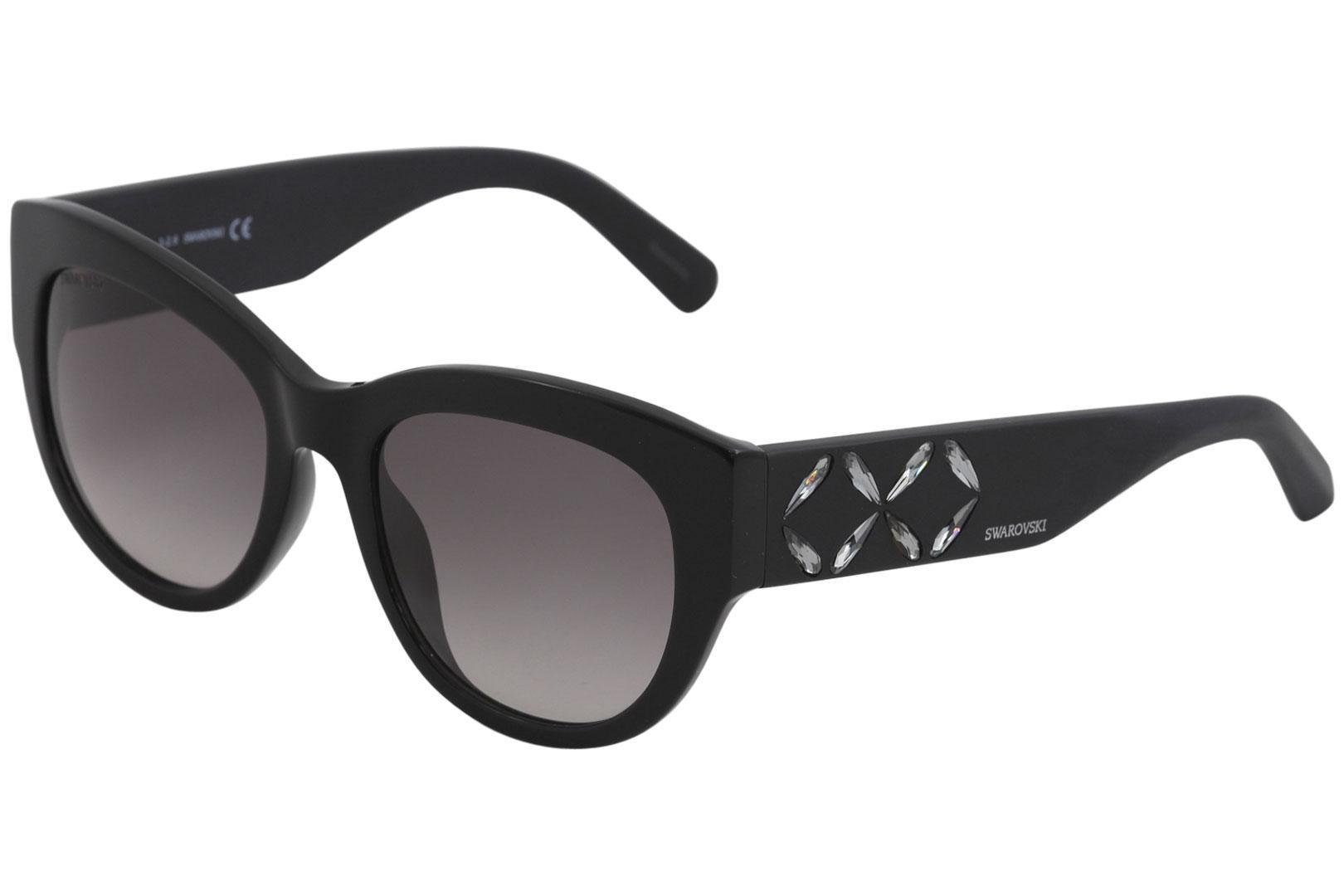 Image of Swarovski Women's SK0127 SK/0127 Fashion Square Sunglasses - Black - Lens 54 Bridge 19 Temple 140mm