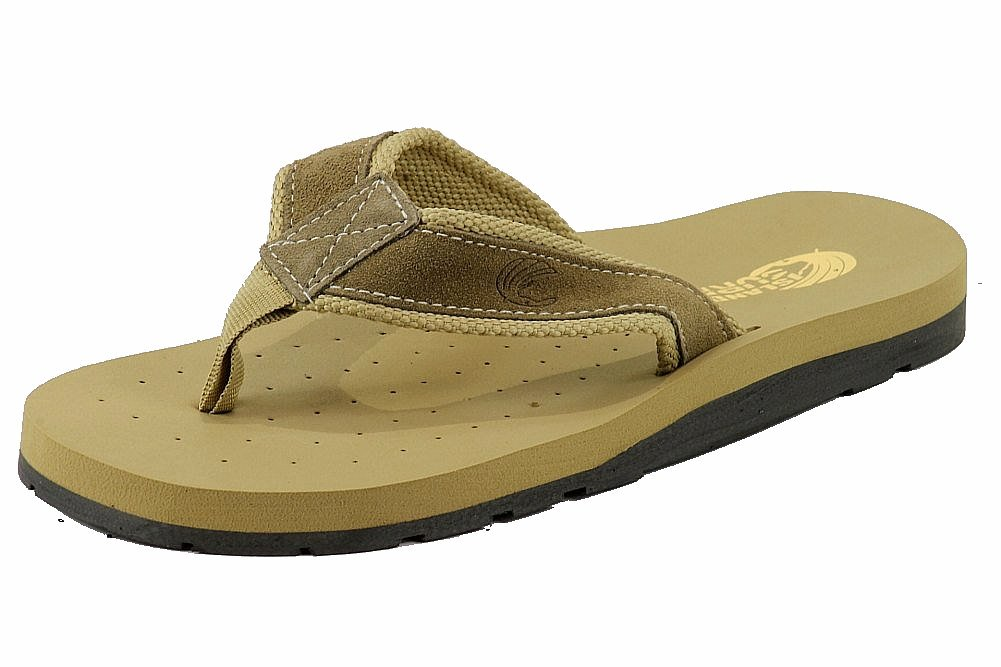 Image of Island Surf Men's Aloha 31001 Fashion Flip Flops Sandals Classic Shoes - Tan - 8
