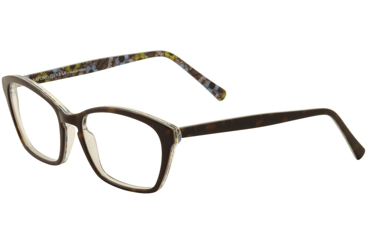Lafont Issy & LA Women\'s Eyeglasses Vraiment Rectangle Full Rim ...