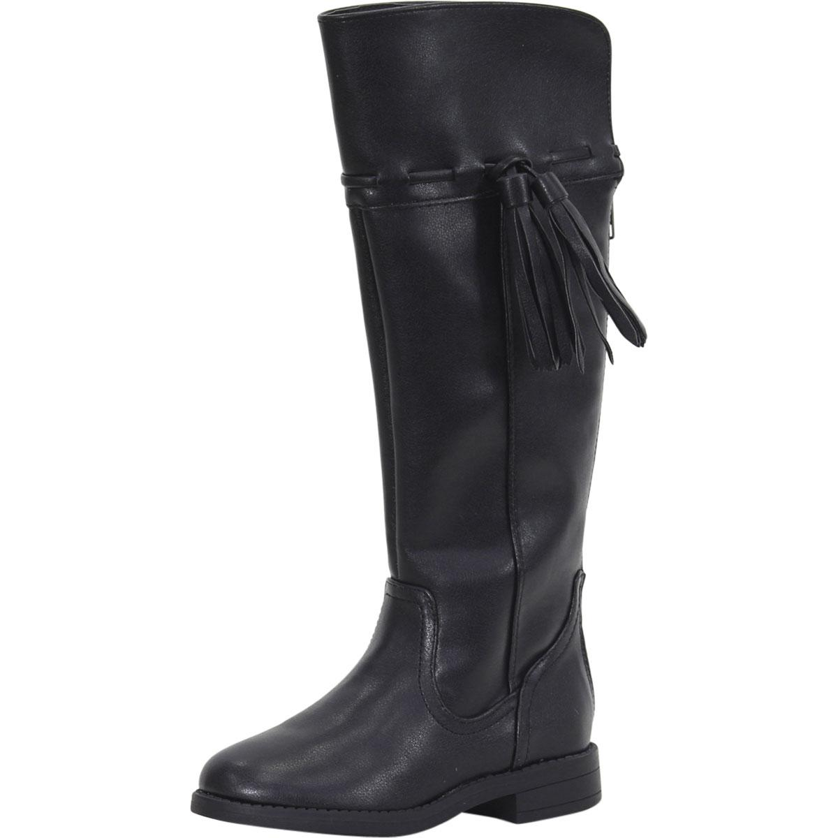 Image of Sugar Little/Big Girl's Cannoli Over The Knee Boots Shoes - Black - 12 M US Little Kid