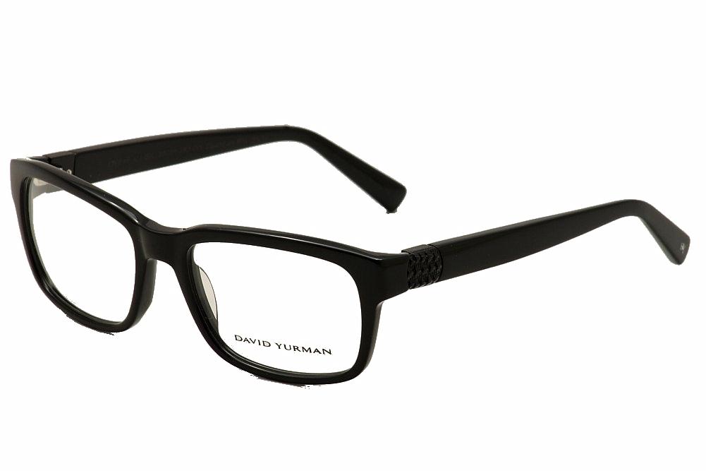 Image of David Yurman Men's Eyeglasses DY646 DY/646 Full Rim Optical Frame - Black - Lens 56 Bridge 19 Temple 140mm