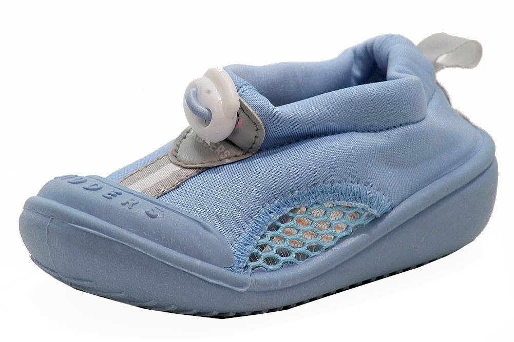 Image of Skidders Boy's Skidproof Sun Grip Water Shoes - Blue - 8; Fits 24 Months