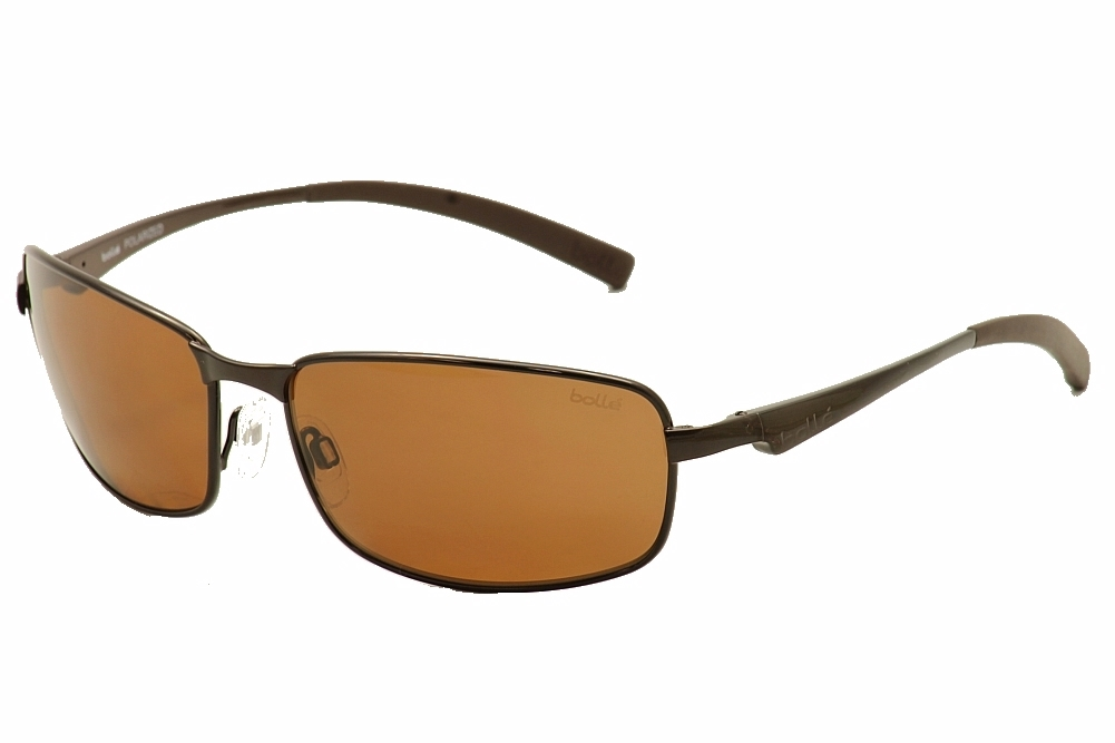 Image of Bolle Key West Rectangle Sunglasses - Brown - Lens 62 Bridge 16 Temple 130mm