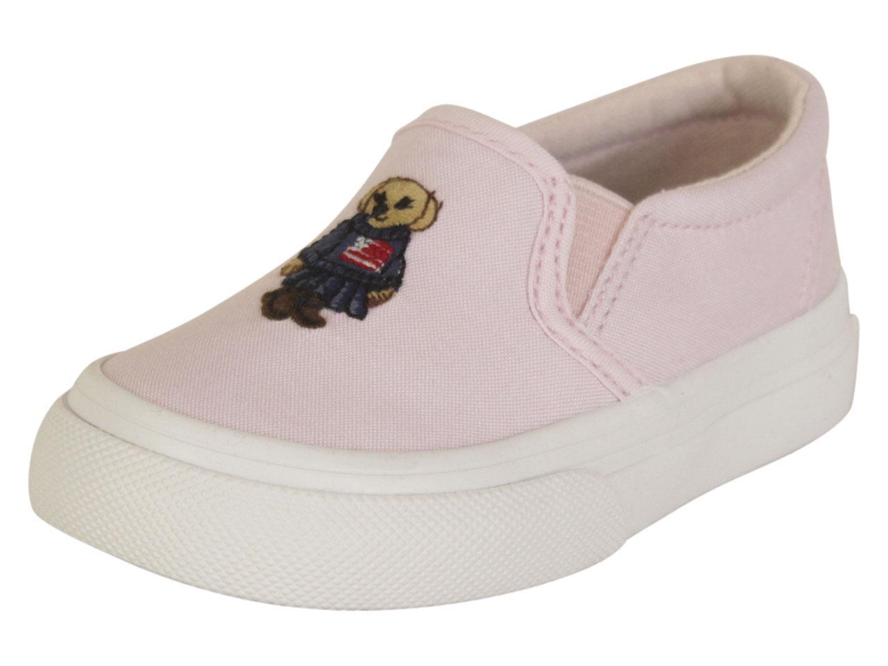 d9712bc66 Polo Ralph Lauren Toddler Girl s Carlee Bear Light Pink Sneakers ...