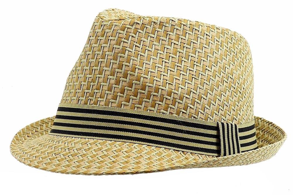 Image of Henschel Men's 3095 Woven Loo Straw Fedora Hat - Beige - Medium