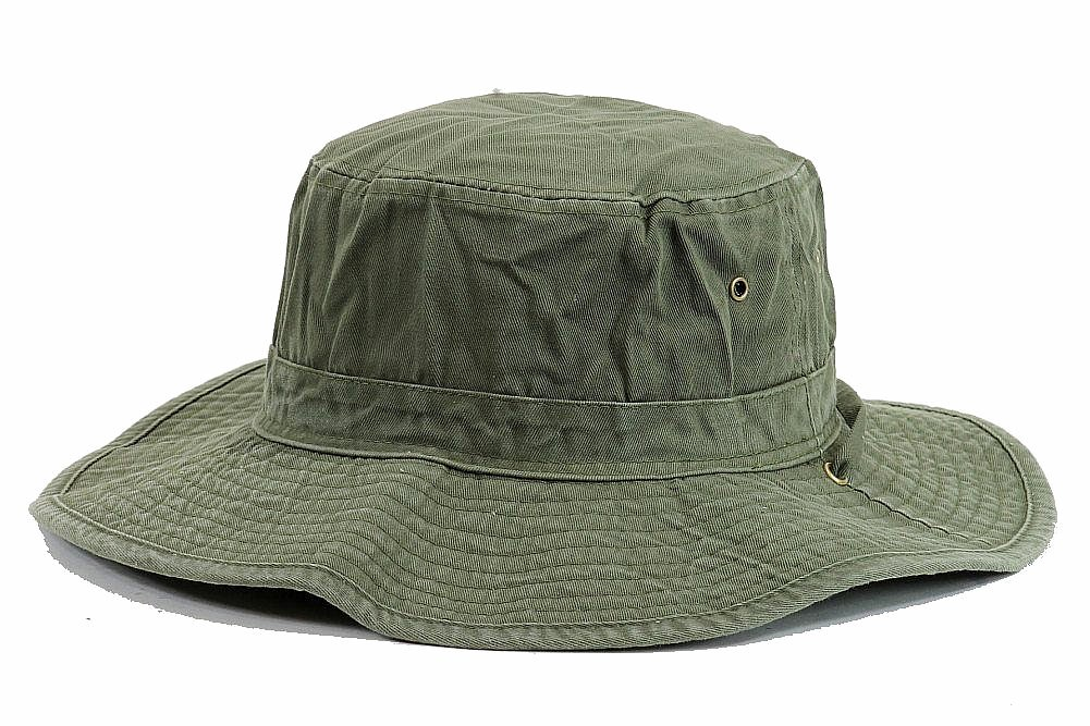 Image of Henschel Men's 5278 Washed Packable Booney Outback Hat - Green - Small