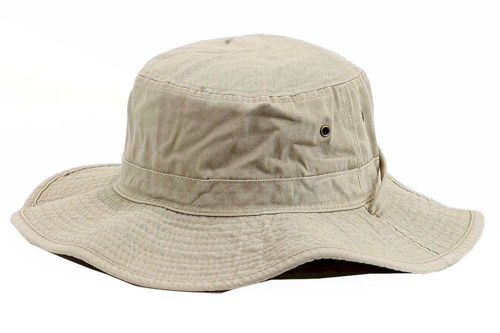 Image of Henschel Men's 5278 Washed Packable Booney Outback Hat - Beige - Large