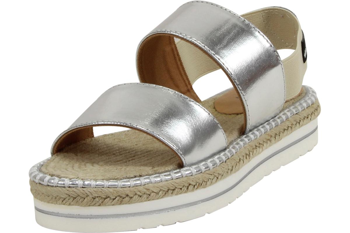 8f0467d14559 Love Moschino Women s Metallic Silver Slip-On Espadrilles Sandals Shoes by  Love Moschino