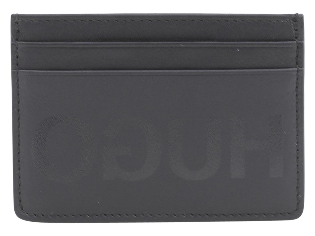 Image of Hugo Boss Men's Statement Genuine Leather Card Holder Wallet - Black