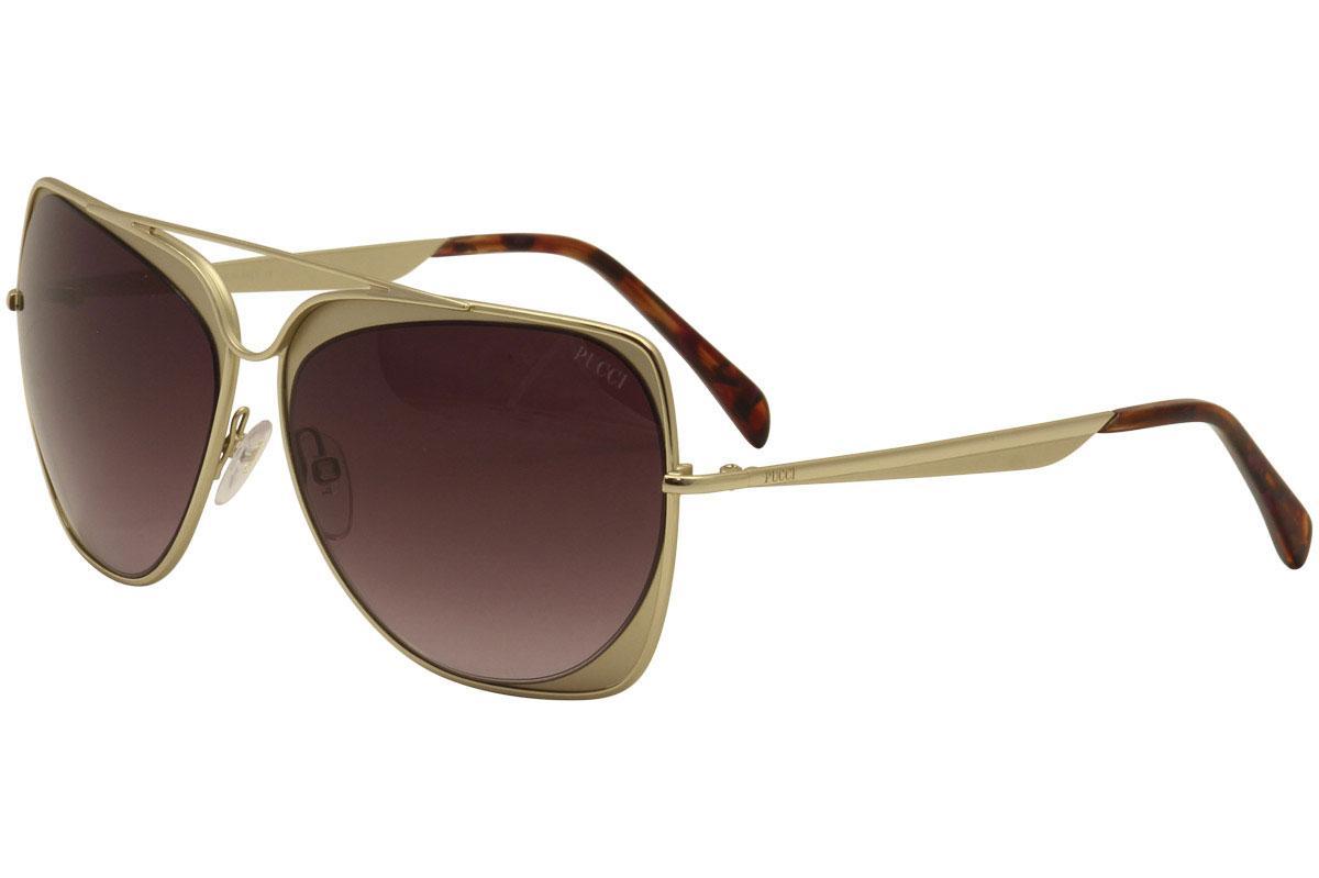 Image of Emilio Pucci Women's EP0004 EP/0004 Fashion Sunglasses - Gold - Lens 61 Bridge 14 Temple 135mm