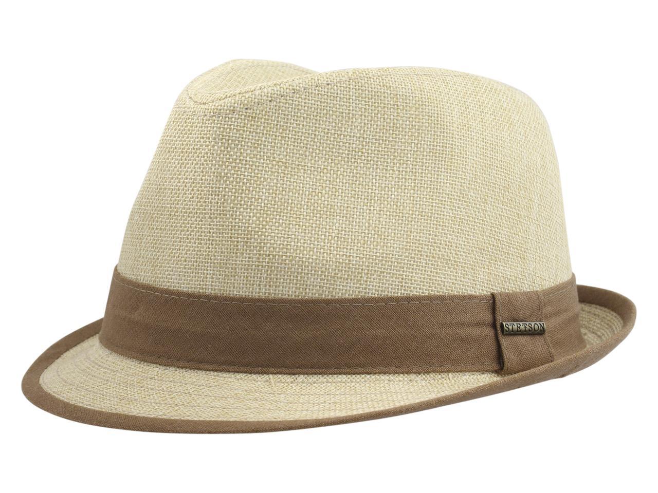 Image of Stetson Men's Contrast Trim Fedora Hat - Tea - Large