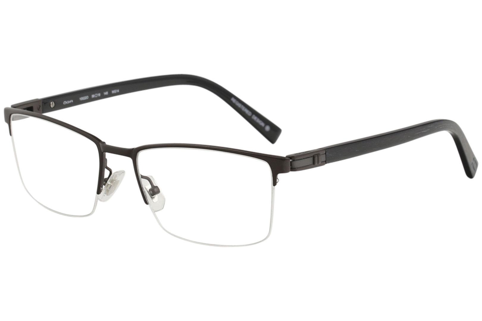 c436252de77 Morel Men s Eyeglasses OGA 10009O 10009 O Full Rim Optical Frame by Morel.  Retro Round Clear Lens Glasses ...