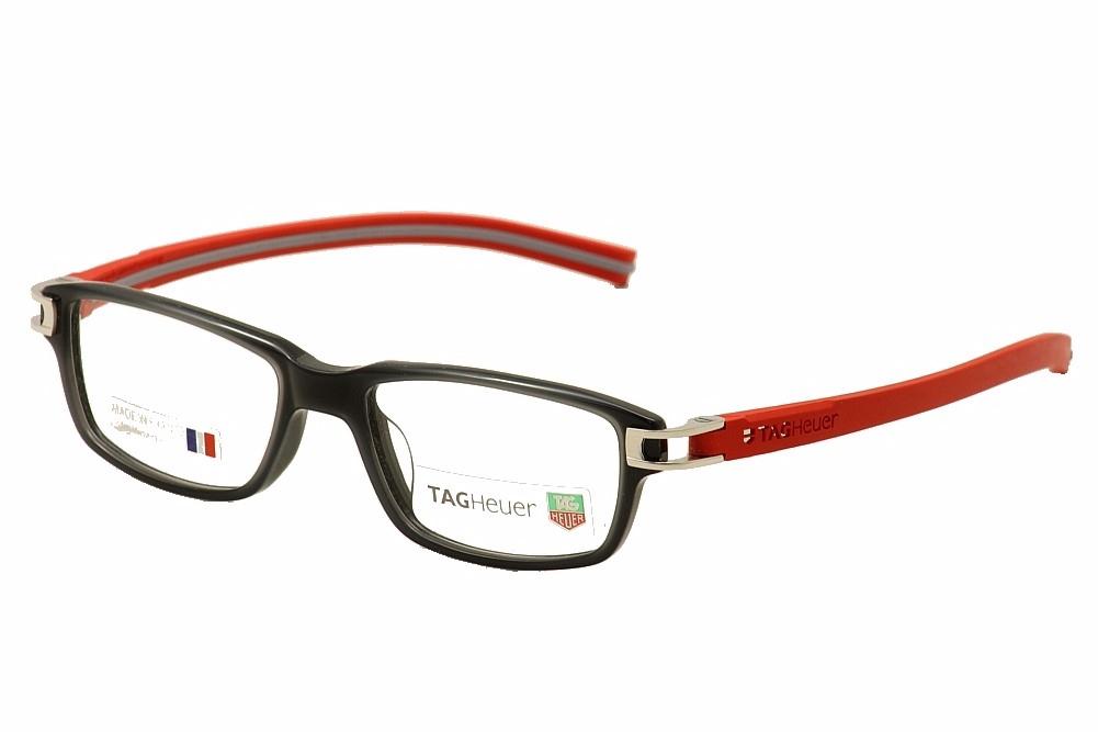 Image of Tag Heuer Men's Eyeglasses Track S TH7602 TH/7602 Full Rim Optical Frame - Grey - Lens 52 Bridge 17 Temple 145mm