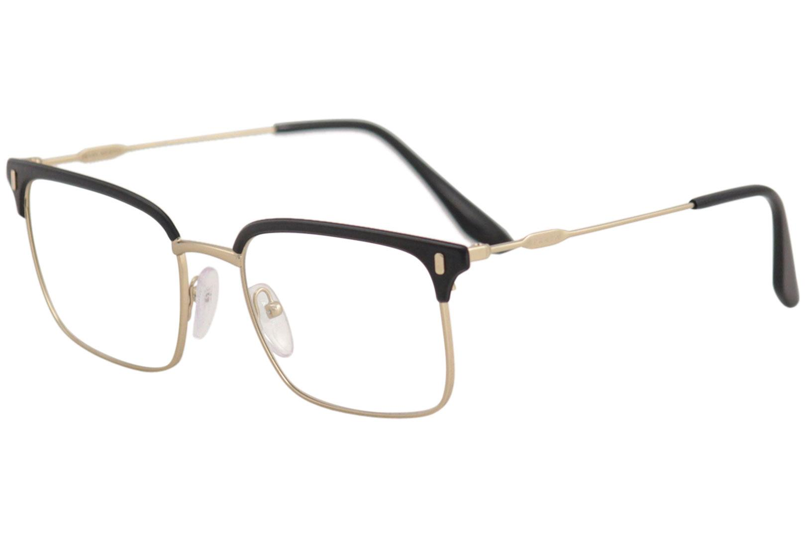 38db06c5cab4 Prada Eyeglasses VPR55V VPR 55 V 280 1O1 Matte Gold Black Optical ...