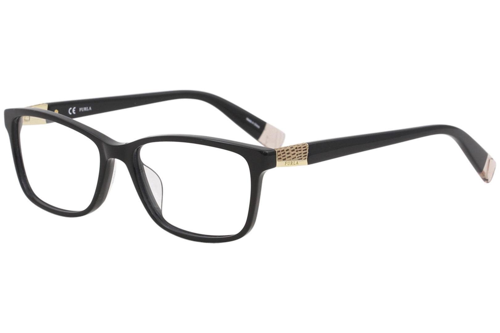 Image of Furla Women's Eyeglasses VFU005 VFU/005 700Y Black Full Rim Optical Frame 53mm - Black   700Y - Lens 53 Bridge 16 B 36 ED 58 Temple 140