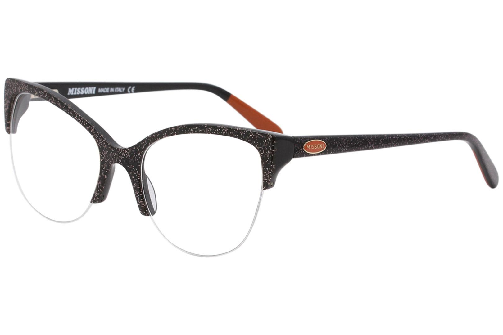 Image of Missoni Women's Eyeglasses MI316V MI/316/V Full Rim Optical Frame 55mm - 04 Black/Multi - Lens 55 Bridge 19 Temple 140mm