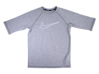 Nike Big Boy's Heather Swoosh Half Sleeve Hydroguard Shirt Swimwear